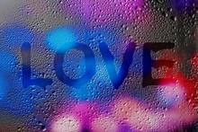 The Word Love. Finger Written ...