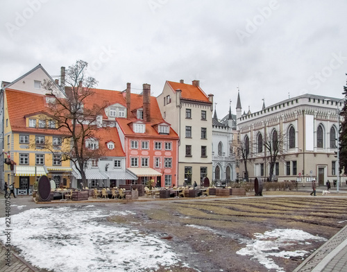 Staande foto Oost Europa Riga city view