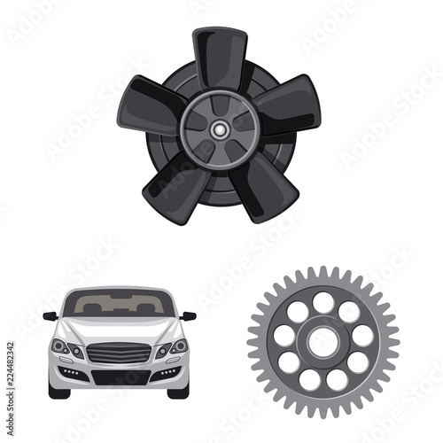 Fotografia  Isolated object of auto and part icon