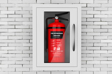 Red Fire Extinguisher In A Wal...