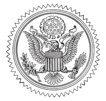 The Great Seal Of The United States, Vintage Illustration