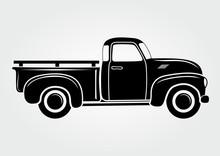 Vintage Pickup, Truck. Vector ...