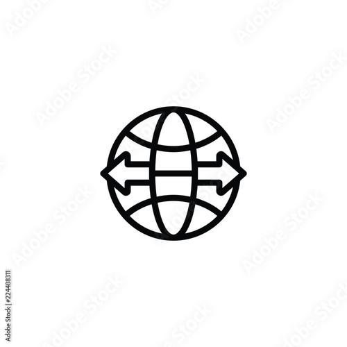 Fotografia, Obraz  import export icon vector