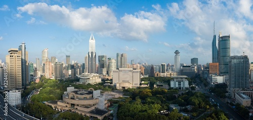 Photo Stands Kuala Lumpur Skyline of urban Shanghai city in the morning