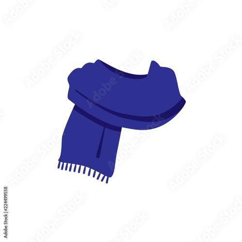 Valokuvatapetti Blue knitted scarf
