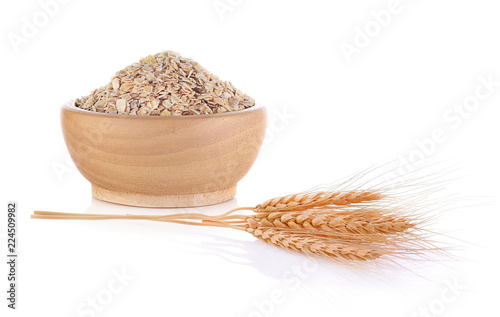 Barley ear isolated on white background