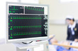 The doctor check heart rate and pulse of patient by running test for protect the heart attack.