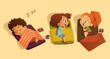 Nap Time In The Kindergarten. ...