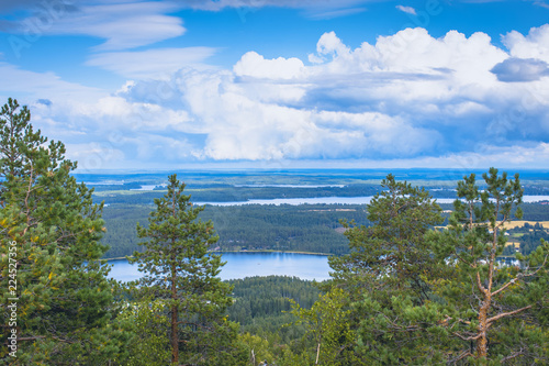 Landscape from Sotkamo, Finland.