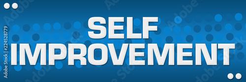 Self Improvement Blue Dots Background