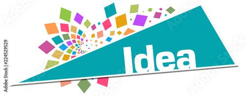 Idea Colorful Circular Turquoise Triangle