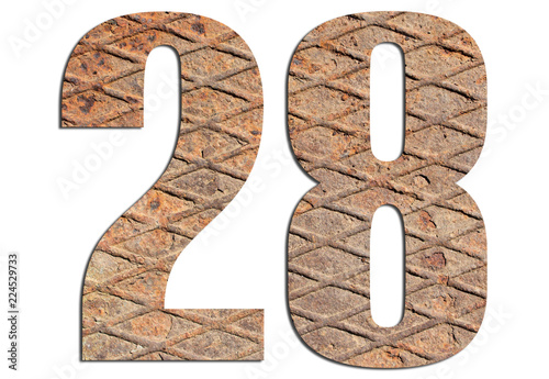 Fotografia  28 – with metal texture on white background