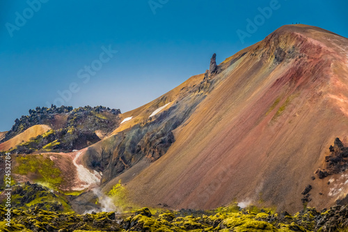 Poster Afrique du Sud The surreal landscapes of Landmannalaugar along the Laugavegur hiking trail, Highlands of Iceland