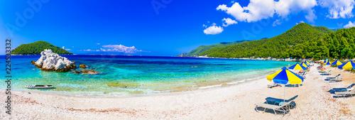Best beaches of Skopelos island - Milia beach. Sporades, Greece
