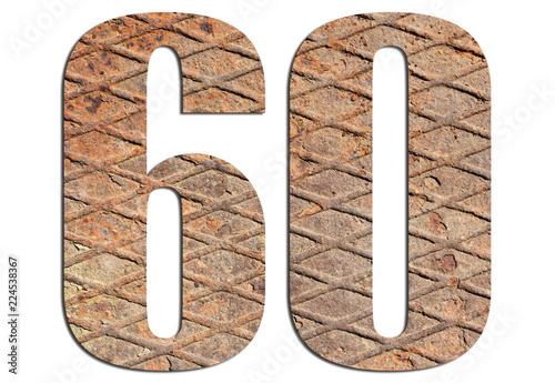 Fotografia  60 – with metal texture on white background