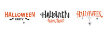 Halloween Typography Set  With...