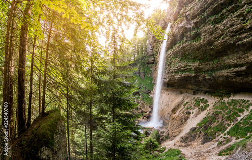 Poster Watervallen Pericnik Wasserfall im Triglav Nationalpark, Slowenien