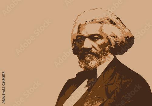 Frederick Douglass, célèbre orateur américain, abolitionniste de l'esclavage Canvas Print