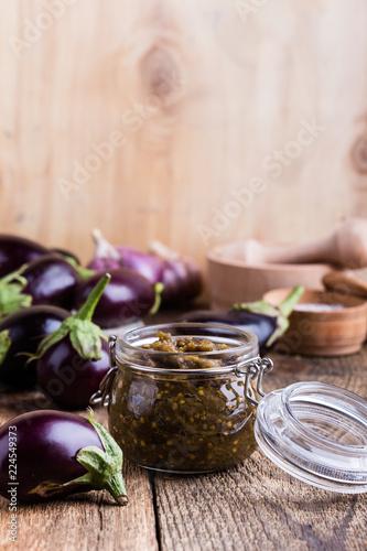 Eggplant preserves, vegetarian vegetable caviar