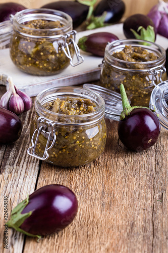Eggplant preserves, vegetarian vegetable caviar