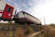 Treno bianco e rosso