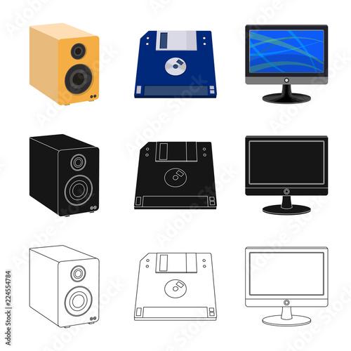 Fotografía  Vector illustration of laptop and device symbol