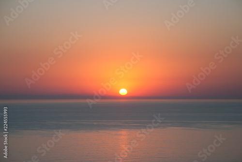 Beautiful seascape at sunset time. Sunset background.