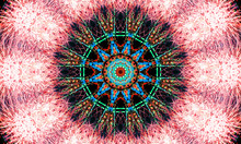 Colorful Kaleidoscopic Firewor...