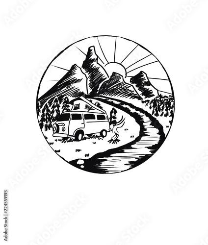 Fototapeta Roadtrip Icon I