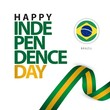 Happy Brazil Independence Day Vector Template Design Illustration