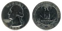United States Coin. Quarter Dollar 1967.