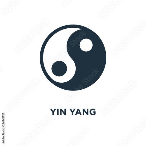 Obraz na plátně  yin yang icon