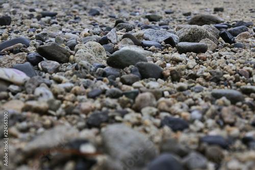 Textura de rocas en la playa