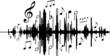 Tonwellen mit Musiknoten