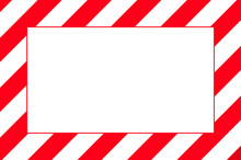 Red And White Stripes Border
