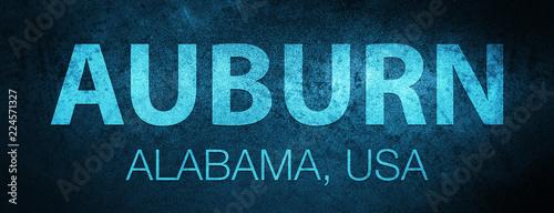 Auburn. Alabama. USA special blue banner background Canvas Print