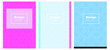Light Pink, Blue vector template for journals.