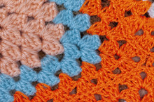 Detail Of A Wool Blanket Made ...