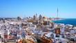 Aussicht über die Stadt Cádiz am Atlantik, Andalusien / Spanien