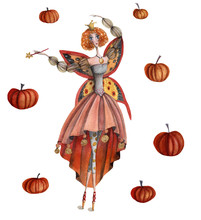 Fairy Of Sweet Pumpkins. Hand ...