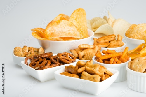 Fototapeta variety of snacks