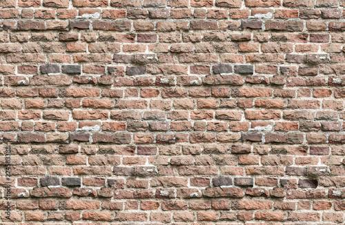Foto op Aluminium Wand Endless seamless pattern of old brick wall