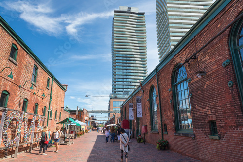 Fotografie, Obraz  Distillery District (former Gooderham & Worts Distillery) - historic and entertainment precinct