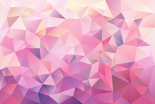 Trendy Polygonal Pink Pattern. Background Of Triangles. Vector Illustration, Design Element For Cover, Banners, Poster, Cards, Business And Others