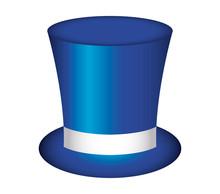 Blue Top Hat Accessory Classic Wear