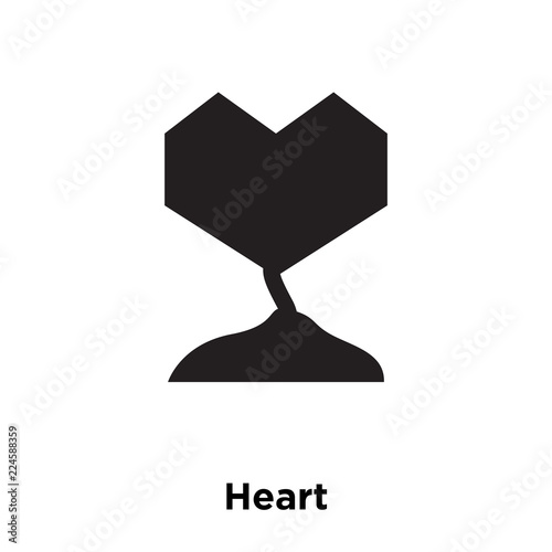 heart icon vector isolated on white background, logo concept