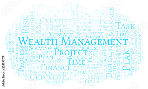 Fotografía  Wealth Management word cloud, made with text only.