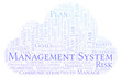 Management System word cloud, made with text only.