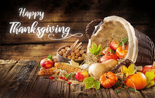 Modern Image Of A Thanksgiving Invitation