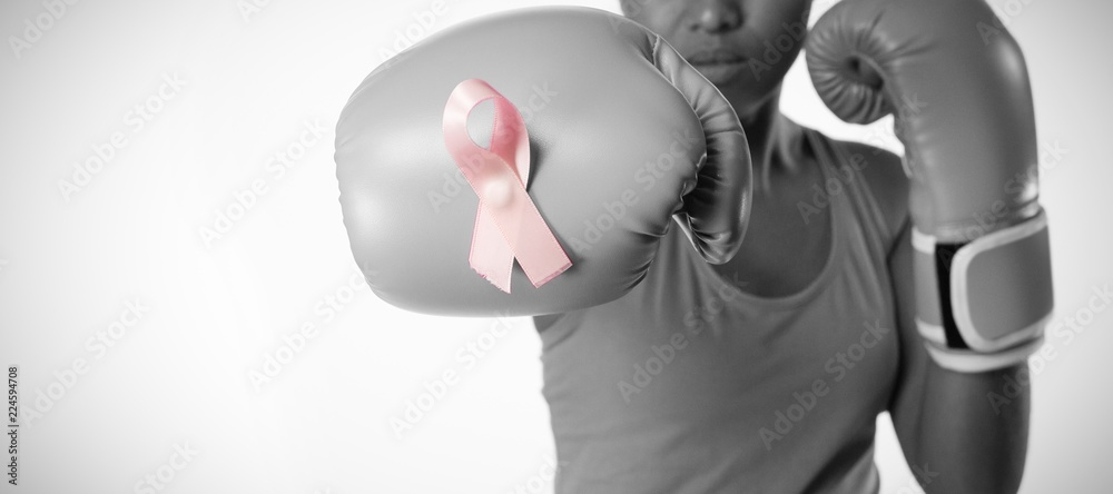 Fototapeta Woman for fight against breast cancer